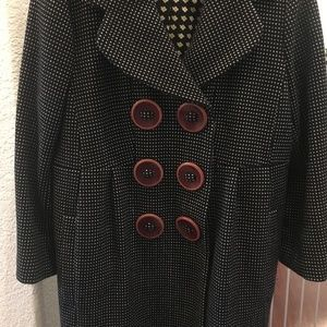 Marc By Marc Jacobs Coat Polka Dot Double Breasted